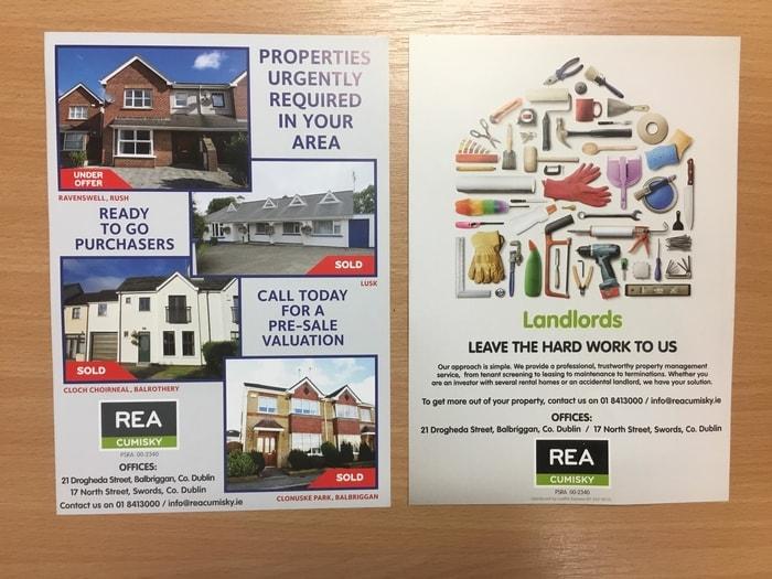 Estate Agent leaflet
